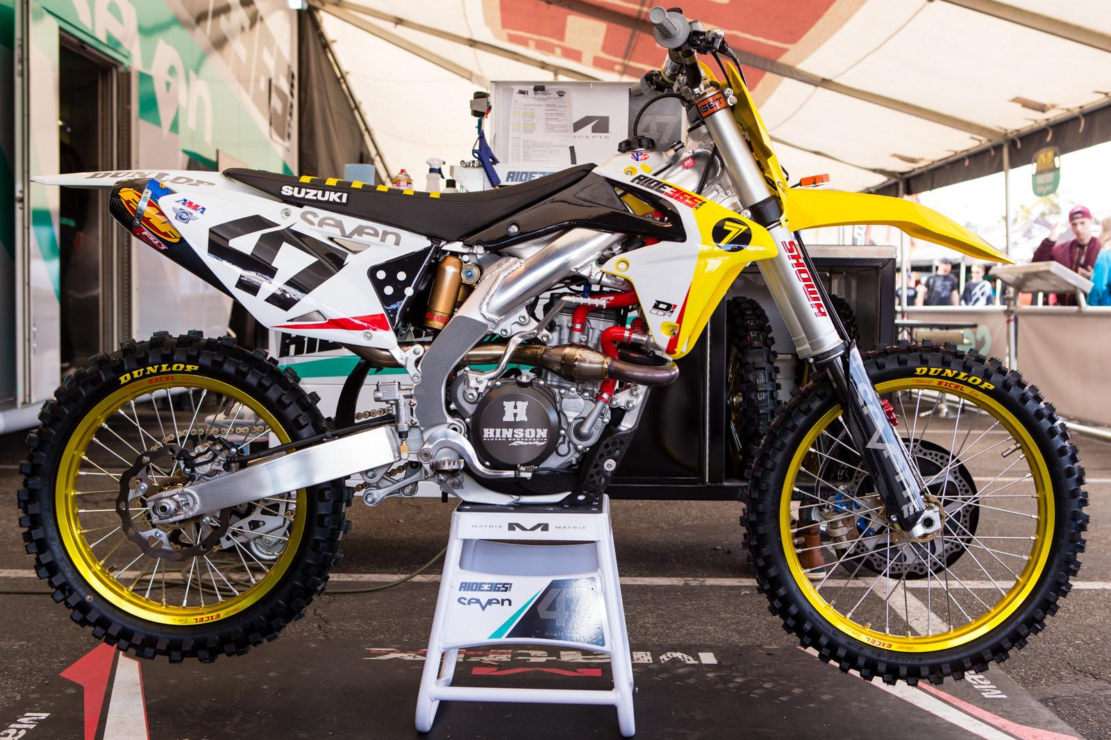 Malcolm Stewart's RIDE365.com/Stewart Racing RM-Z450 - Vital MX Pit Bits: Anaheim 2 - Motocross Pictures - Vital MX