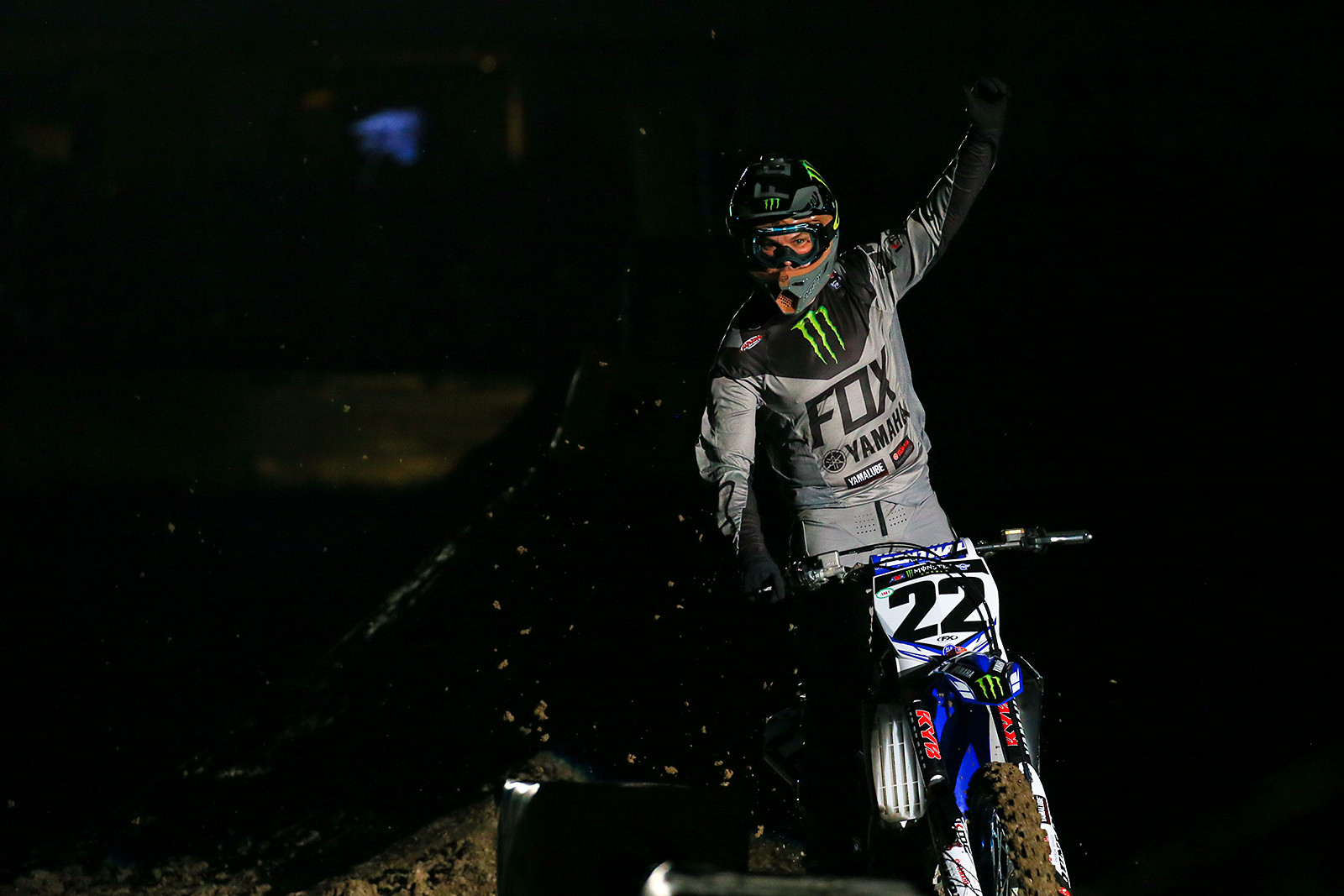 Photo Blast: Chad Reed during rider introductions at Anaheim 2 - Photo Blast: Anaheim 2 - Motocross Pictures - Vital MX