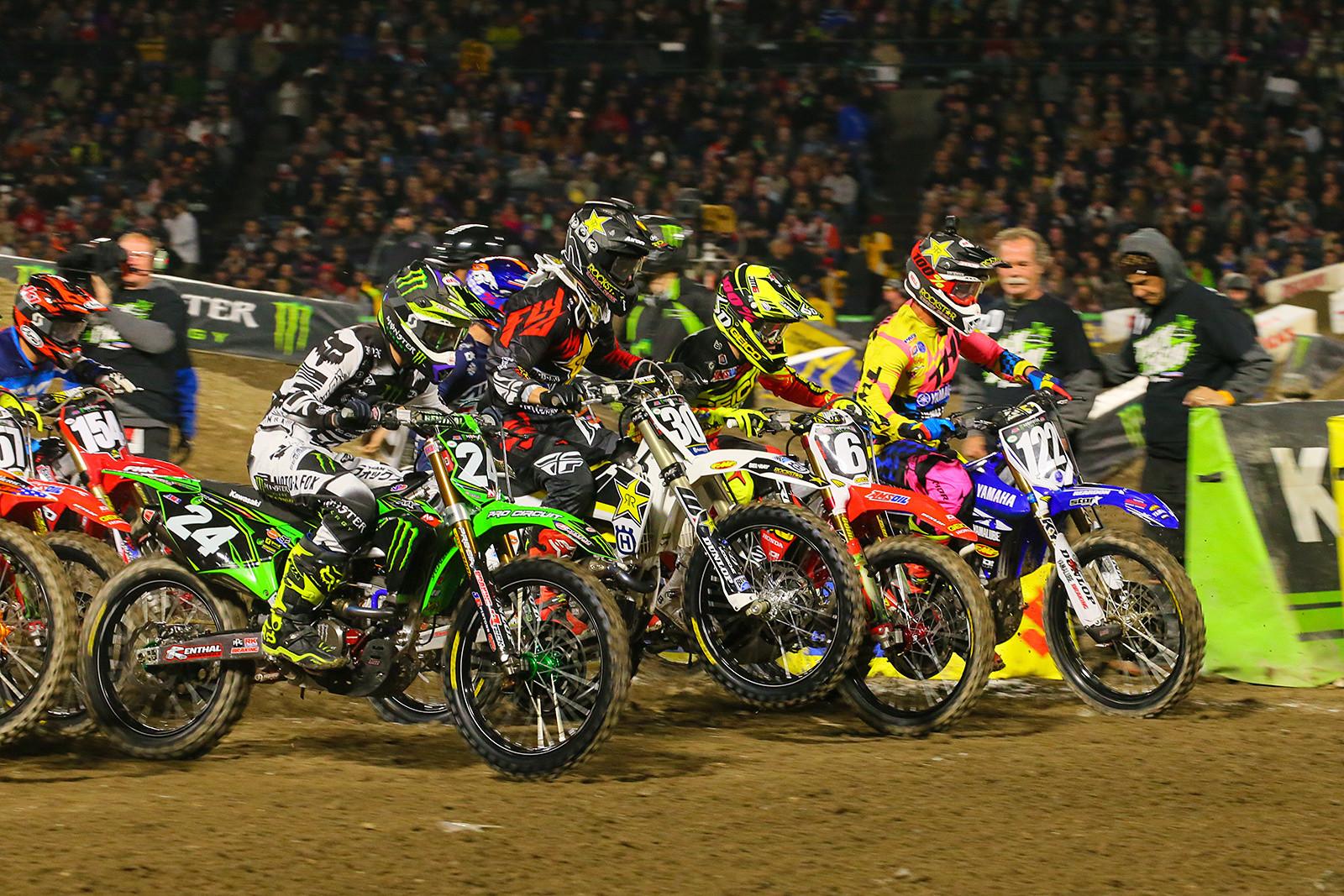 250 Heat Race Two Start - Photo Blast: Anaheim 2 - Motocross Pictures - Vital MX