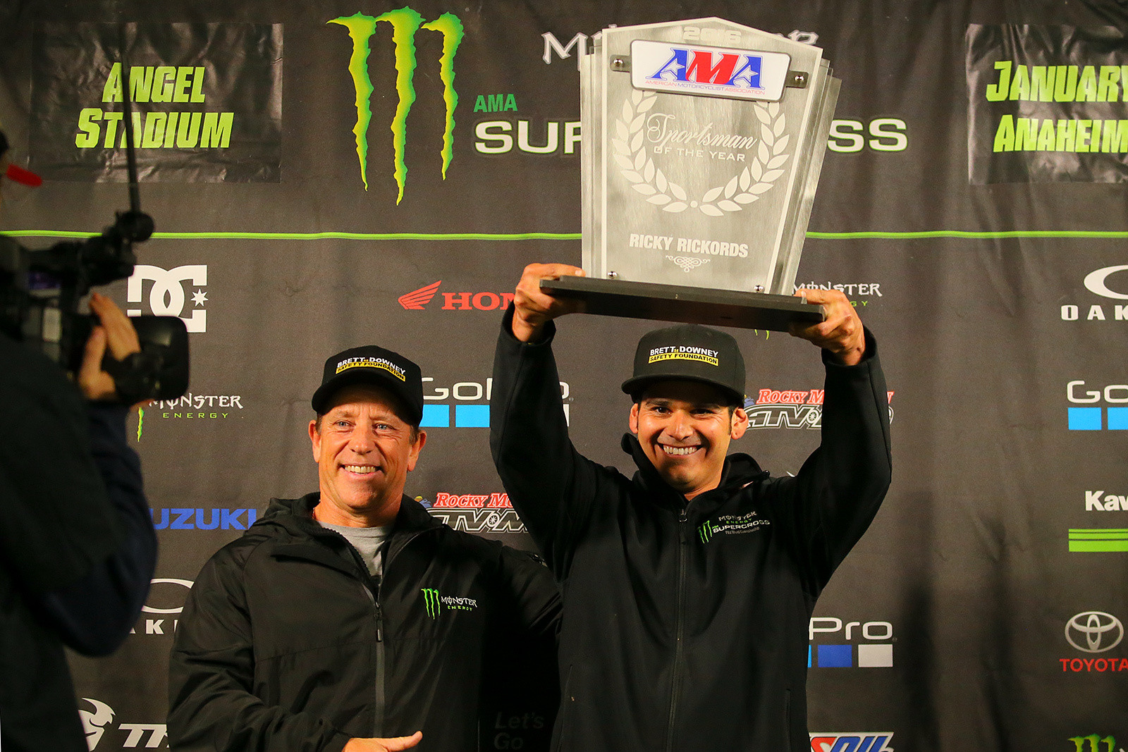 Ricky Rickords and Jim Downey - Photo Blast: Anaheim 2 - Motocross Pictures - Vital MX