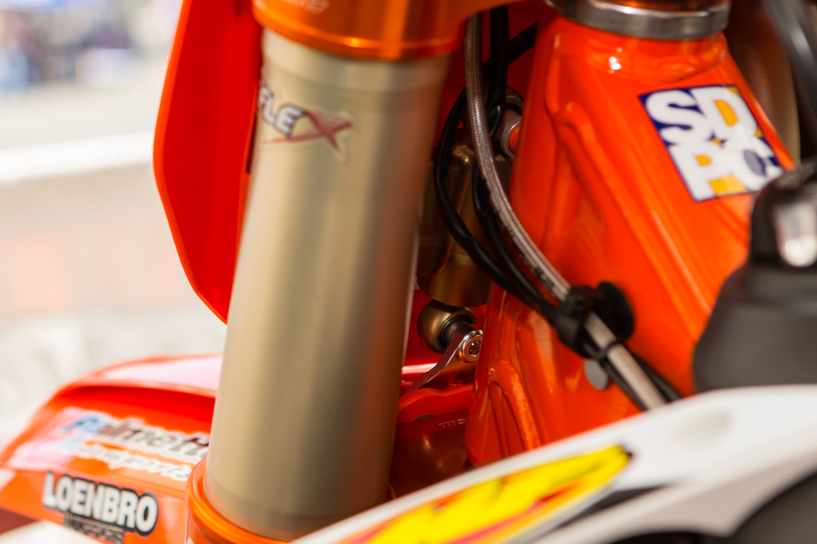 Rocky Mountain KTM Steering Damper - Vital MX Pit Bits: Glendale - Motocross Pictures - Vital MX