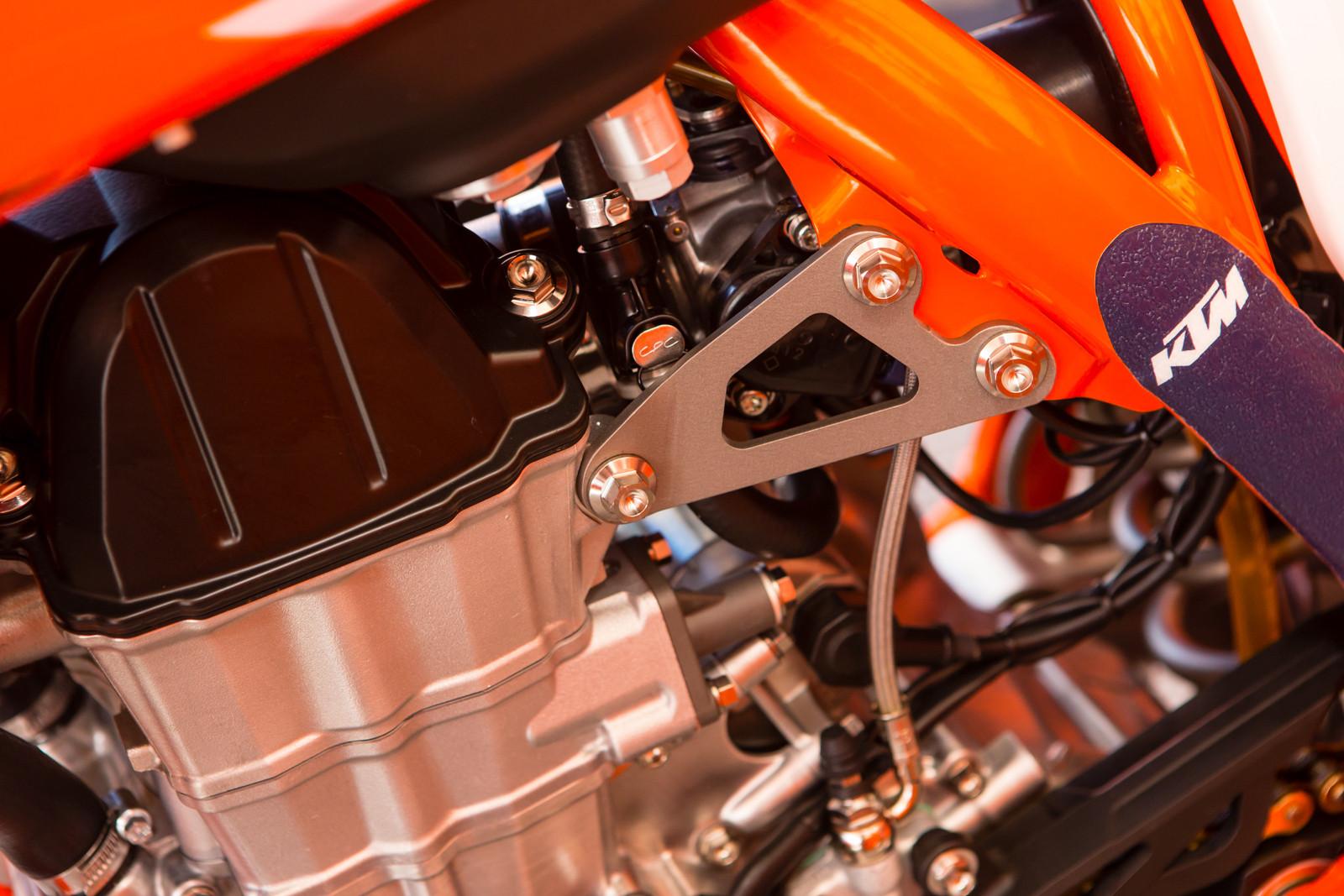 Red Bull KTM's Steel Engine Mounts - Vital MX Pit Bits: Glendale - Motocross Pictures - Vital MX