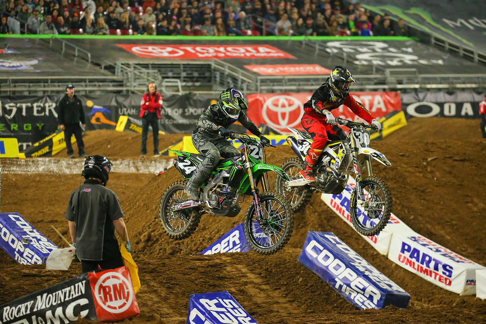 Austin Forkner and Martin Davalos - Photo Blast: Glendale - Motocross Pictures - Vital MX