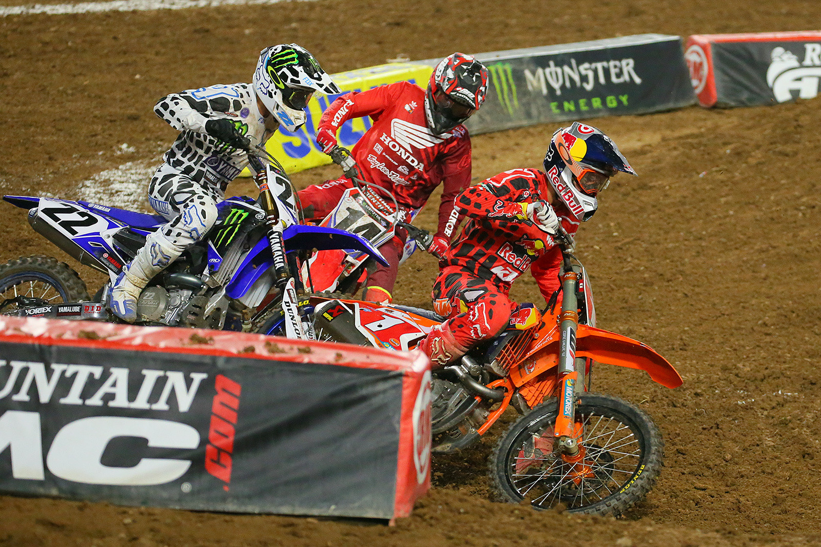 Chad Reed, Cole Seely, and Ryan Dungey - Photo Blast: Glendale - Motocross Pictures - Vital MX