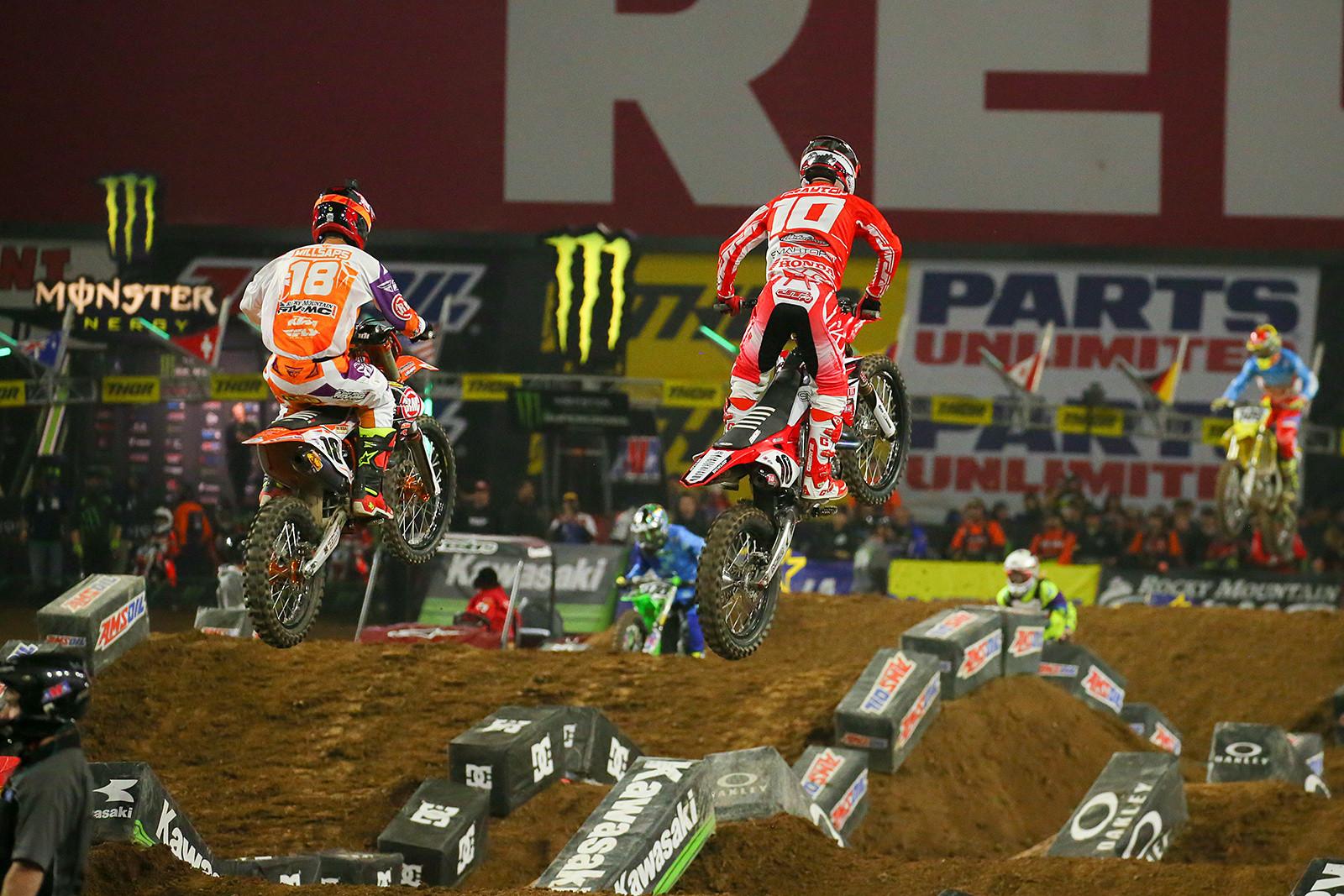 Davi Millsaps and Justin Brayton - Photo Blast: Glendale - Motocross Pictures - Vital MX
