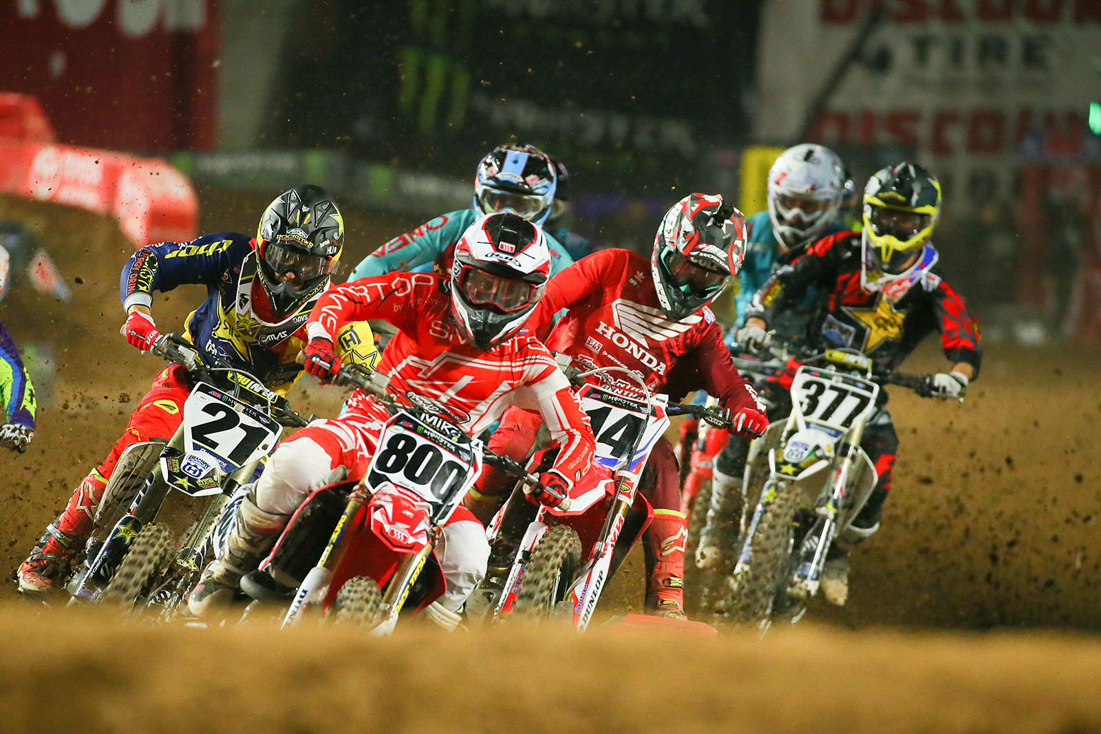 Mike Alessi, Jason Anderson, and Cole Seely - Photo Blast: Glendale - Motocross Pictures - Vital MX