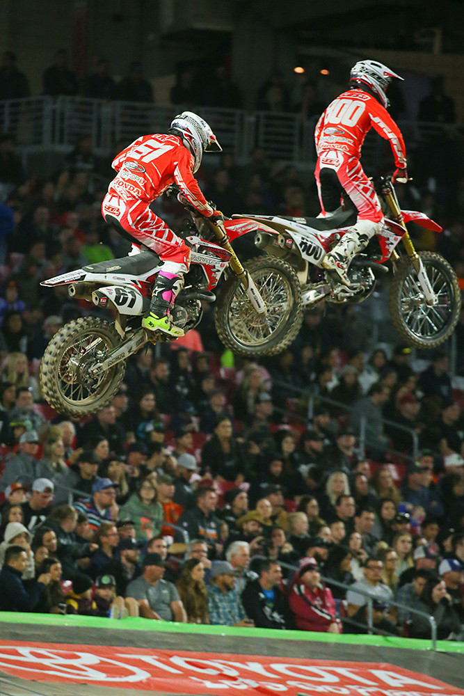 Vince Friese and Mike Alessi - Photo Blast: Glendale - Motocross Pictures - Vital MX
