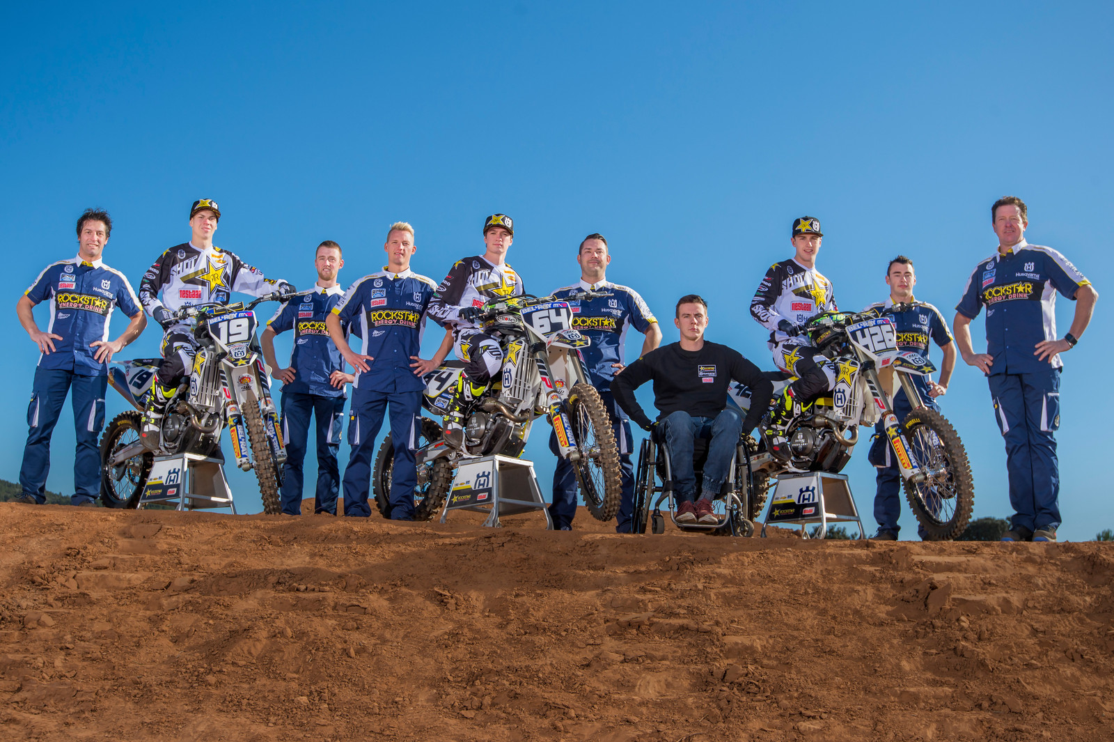 Rockstar Energy Husqvarna Factory Racing MX2 Team  - Rockstar Energy Racing Husqvarna's MX2 Squad - Motocross Pictures - Vital MX