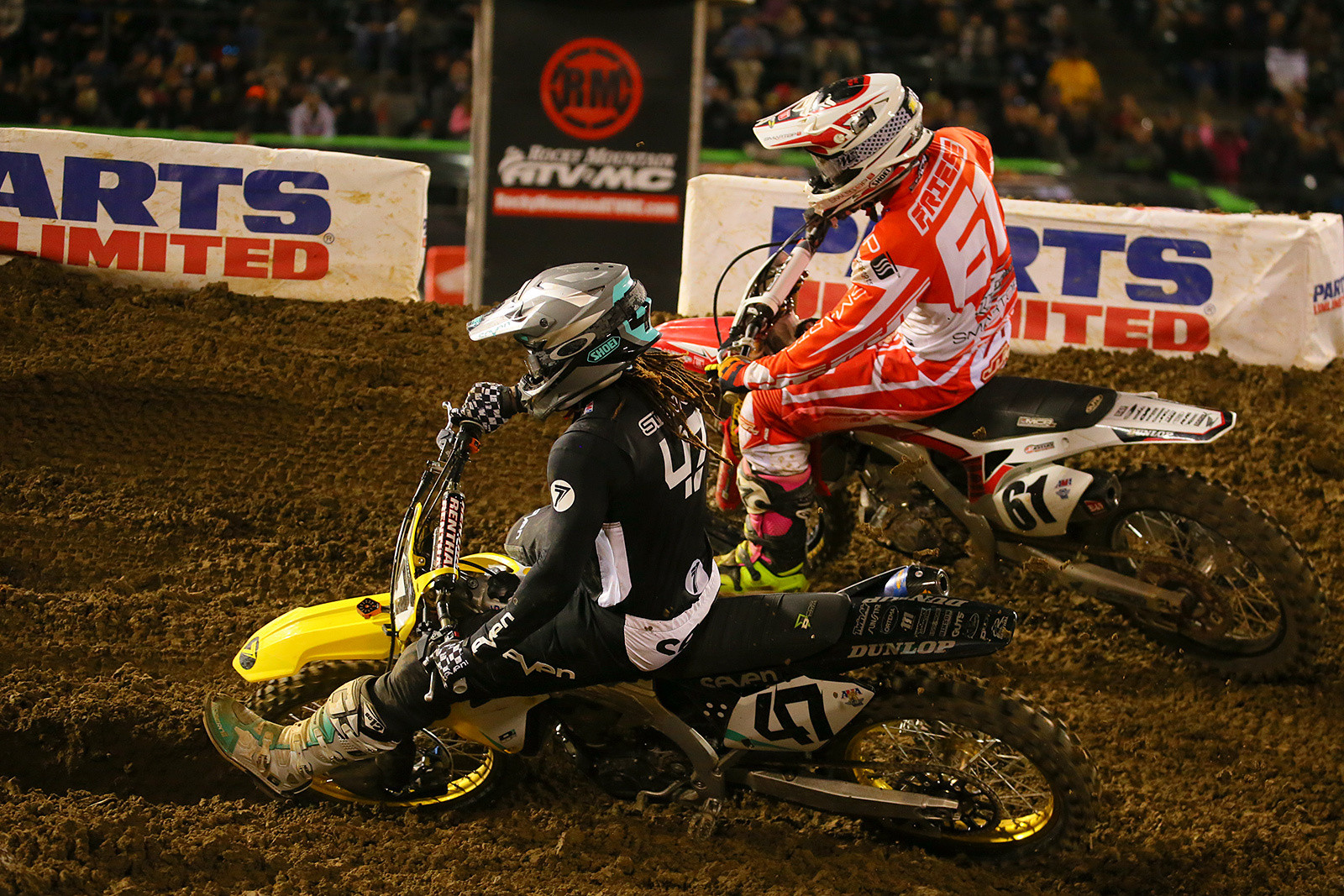 Malcolm Stewart and Vince Friese - Photo Blast: Oakland - Motocross Pictures - Vital MX