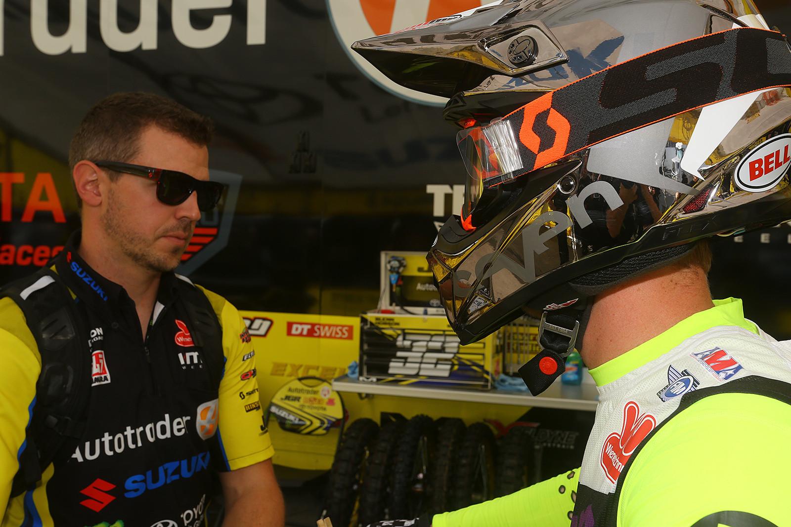 Glenn Hobson and Jake Weimer - Vital MX Pit Bits: Arlington - Motocross Pictures - Vital MX