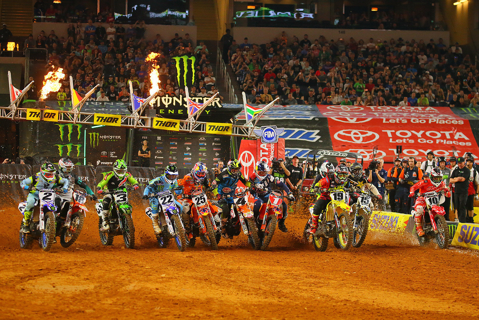 450 Main Event Start, Take One - Photo Blast: Arlington - Motocross Pictures - Vital MX