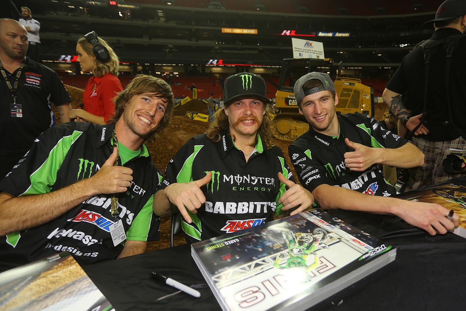 Travis Sewell, Gared Steinke, and Gavin Faith - Photo Blast: Atlanta Arenacross - Motocross Pictures - Vital MX
