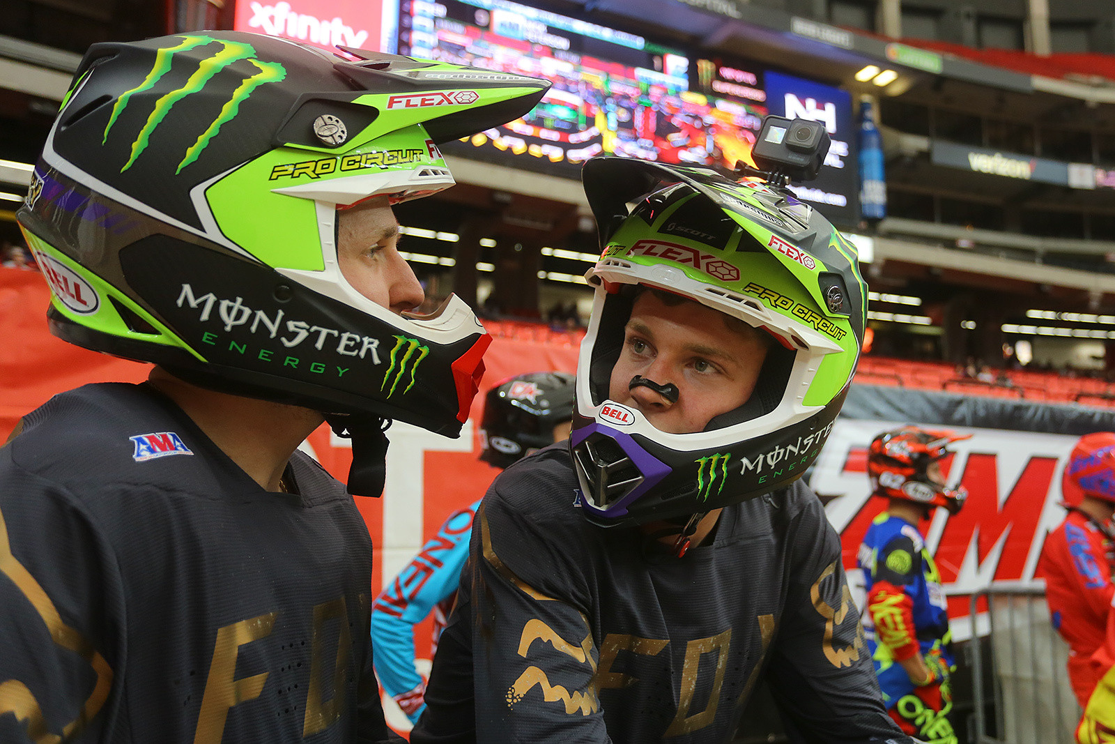 Joey Savatgy and Adam Cianciarulo - Vital MX Pit Bits: Atlanta - Motocross Pictures - Vital MX