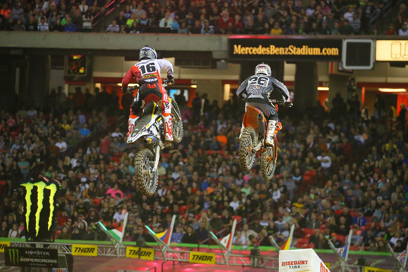 Zach Osborne and Alex Martin - Photo Blast: Atlanta Supercross - Motocross Pictures - Vital MX