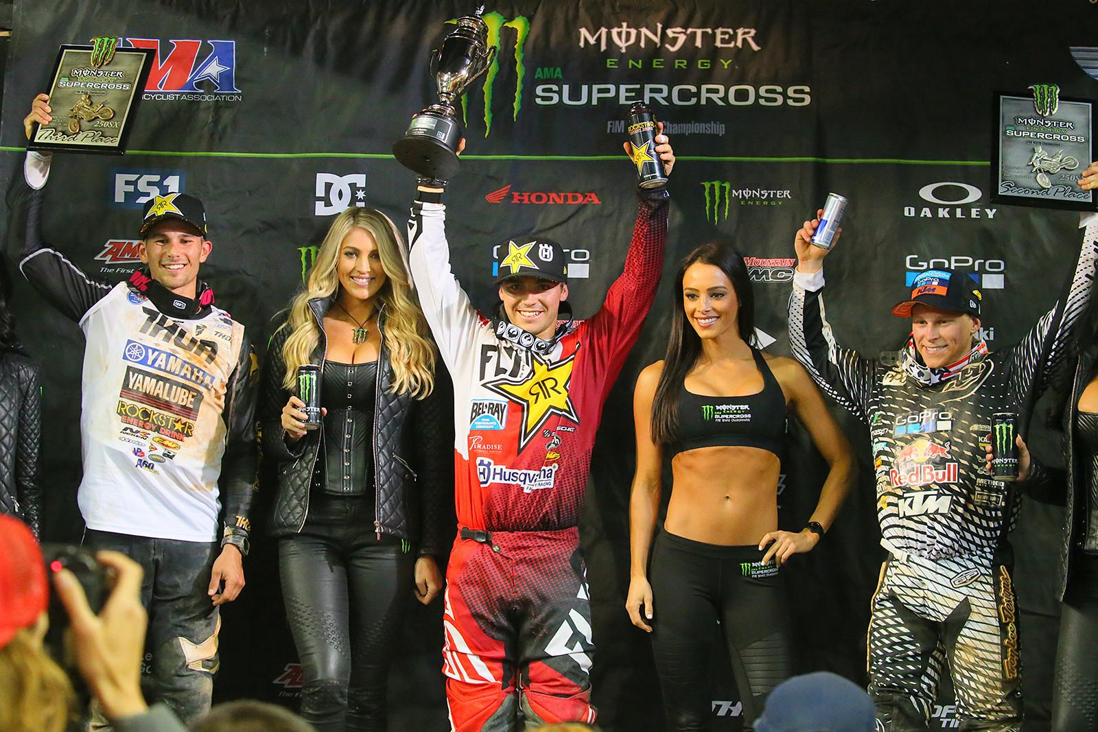 Zach Osborne (1st), Alex Martin (2nd), and Colt Nichols (3rd) - Photo Blast: Atlanta Supercross - Motocross Pictures - Vital MX