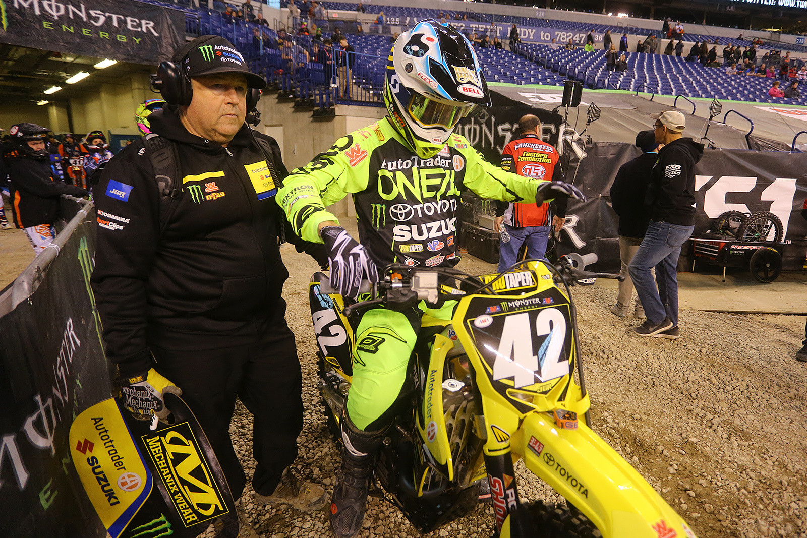 Kyle Cunningham and Lee McCollum - Vital MX Pit Bits: Indianapolis - Motocross Pictures - Vital MX