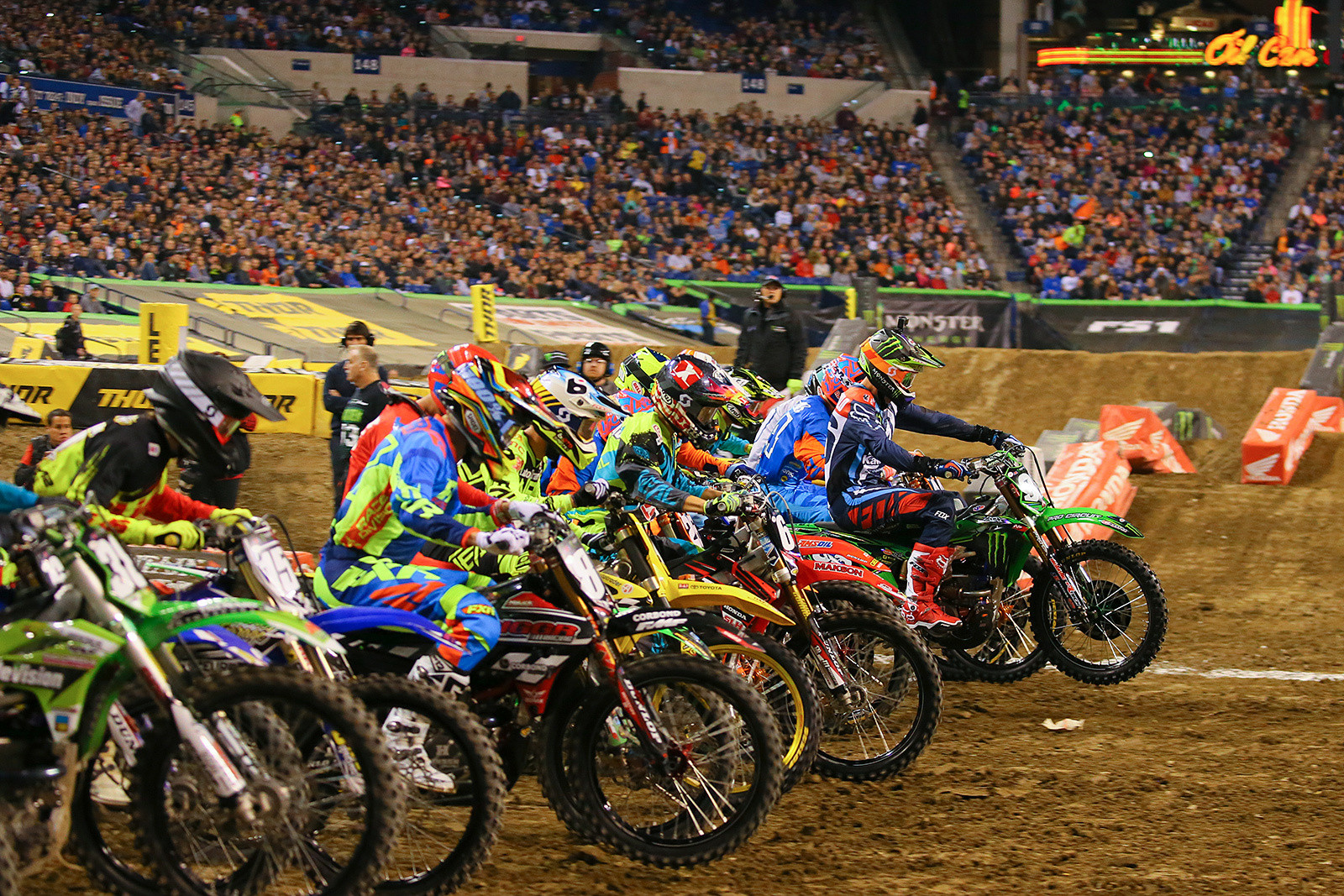Photo Blast from Lucas Oil Stadium in Indianapolis, and the 250 Heat Race One start - Photo Blast: Indianapolis - Motocross Pictures - Vital MX