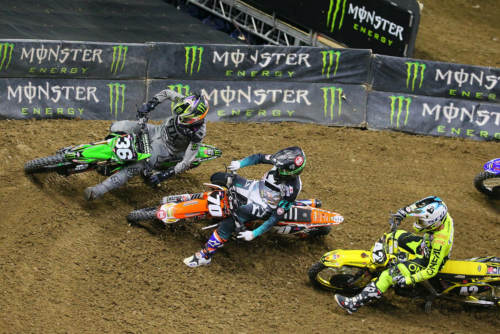 Adam Cianciarulo, Dakota Alix, and Kyle Cunningham - Photo Blast: Detroit - Motocross Pictures - Vital MX