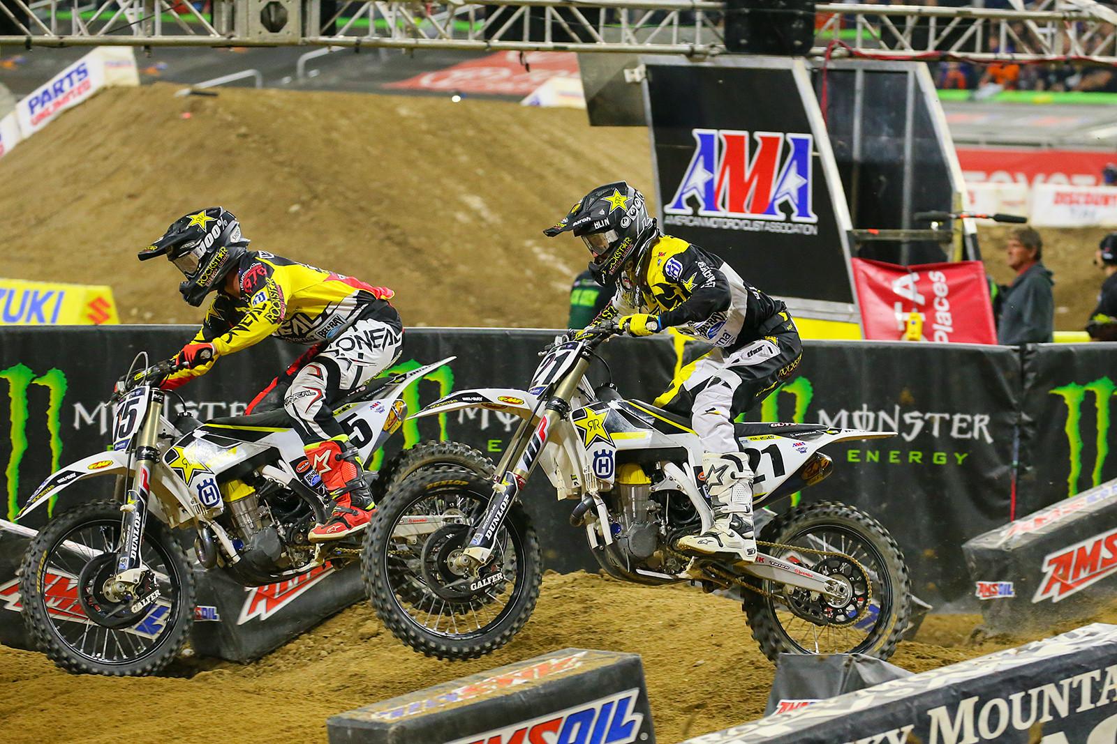 Dean Wilson and Jason Anderson - Photo Blast: Detroit - Motocross Pictures - Vital MX