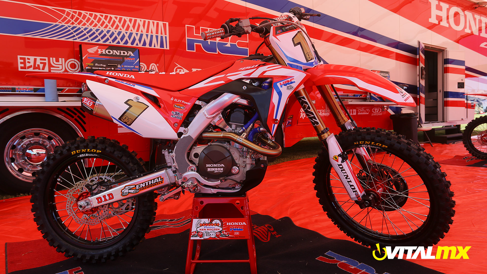 The Big Picture Ken Roczens Team Honda Hrc Bike Motocross