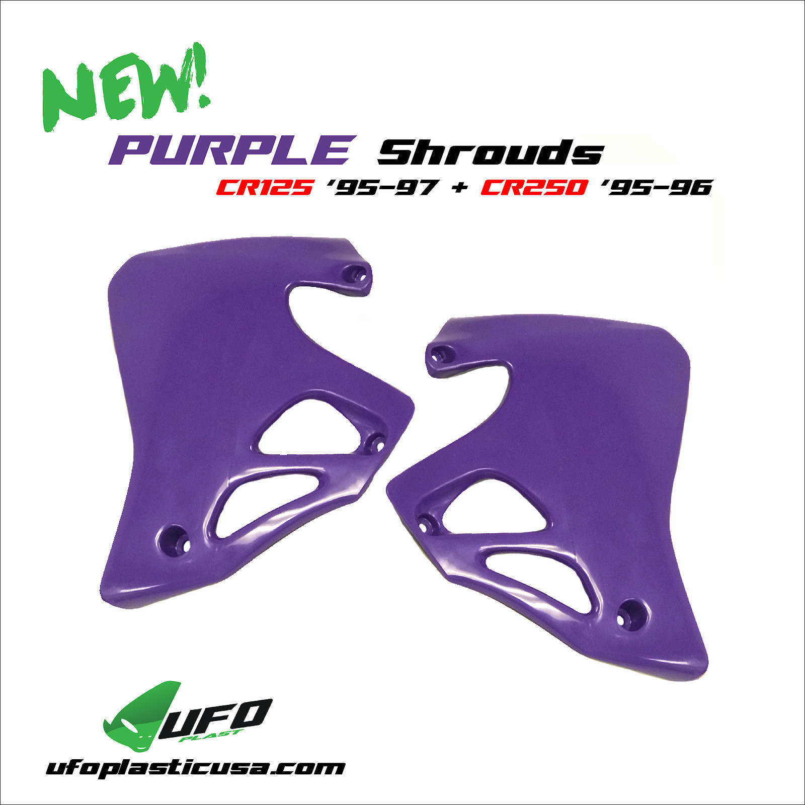 Purple Shrouds CR125/250 - UFO Plast USA - Motocross Pictures - Vital MX