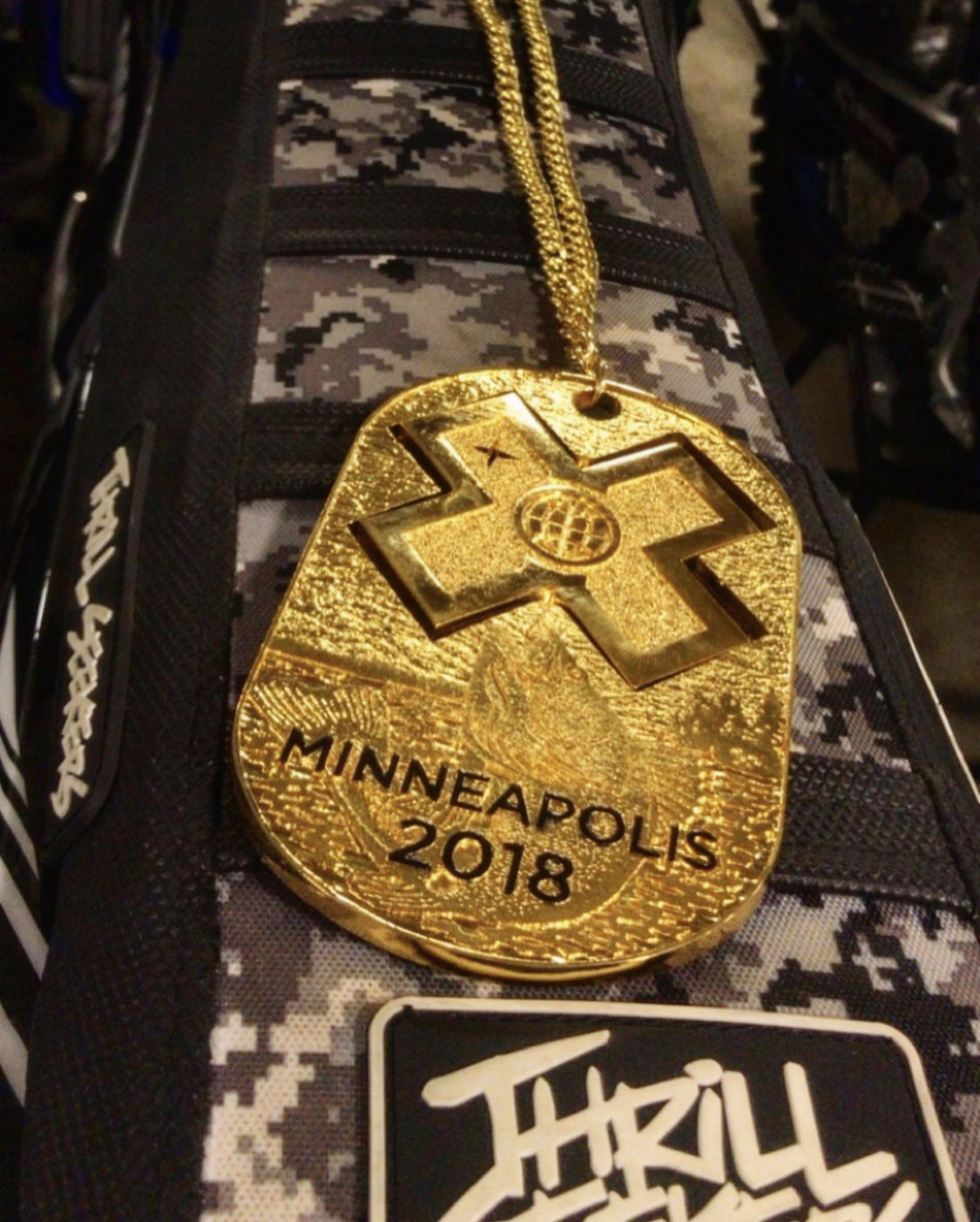 Jarryd McNeil Gold Metal X-Games Thrill Seekers seat cover - Thrill Seekers - Motocross Pictures - Vital MX