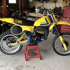 1980 RM125 done up as a 79 DG tribute bike