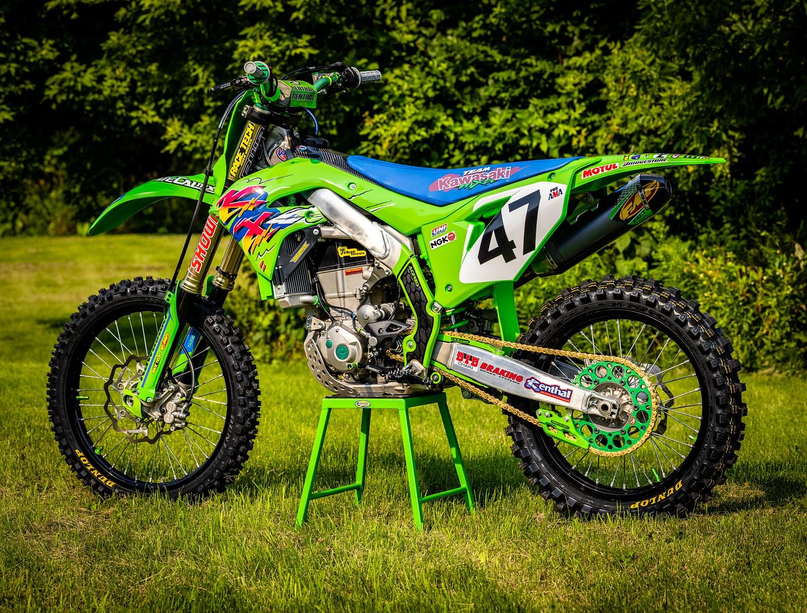 KX450 1993 Retro Graphics - GForce MMG - Motocross Pictures - Vital MX