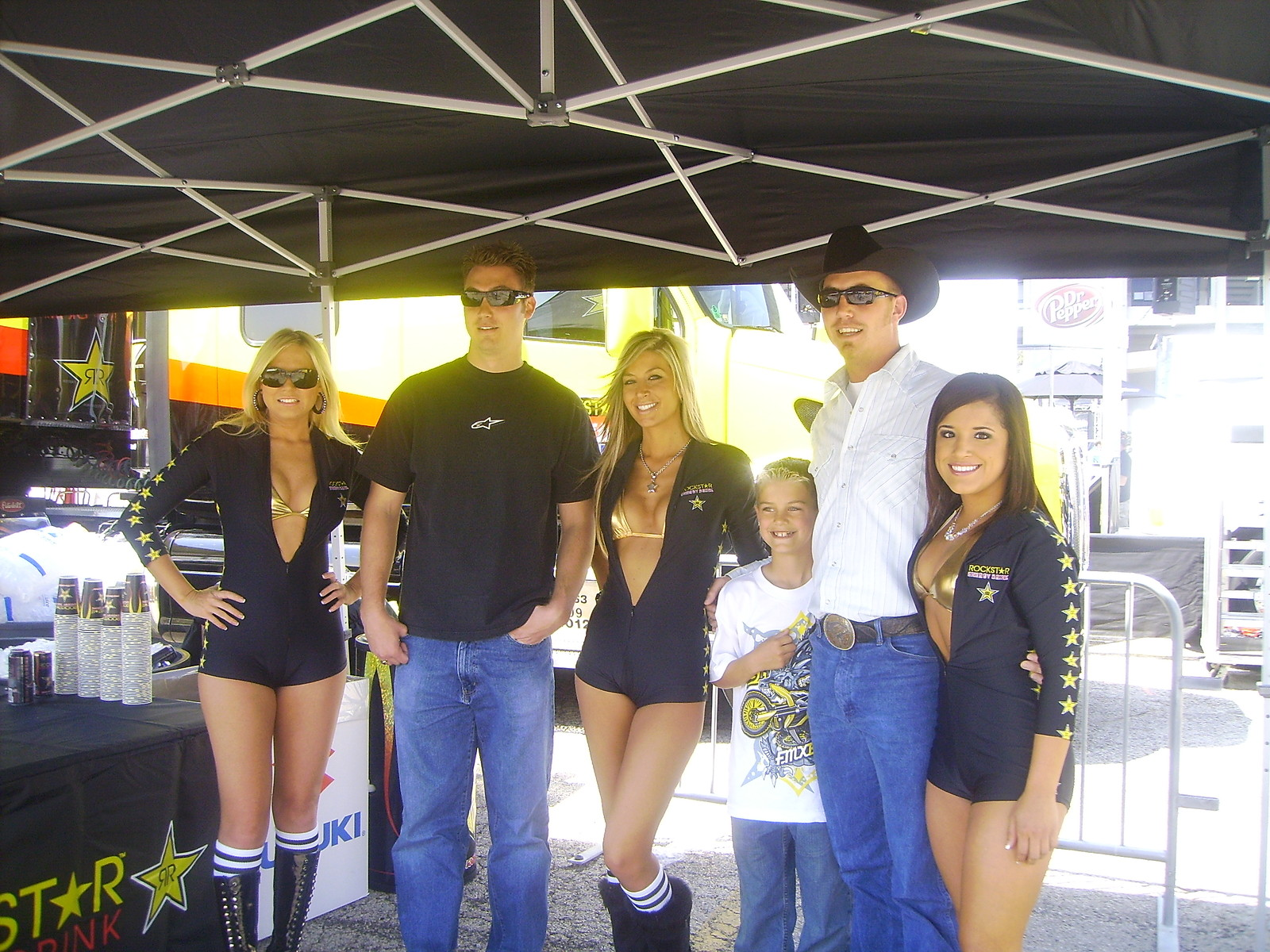 Me and my bro with the rockstar girls - Slim Bill - Motocross Pictures - Vital MX