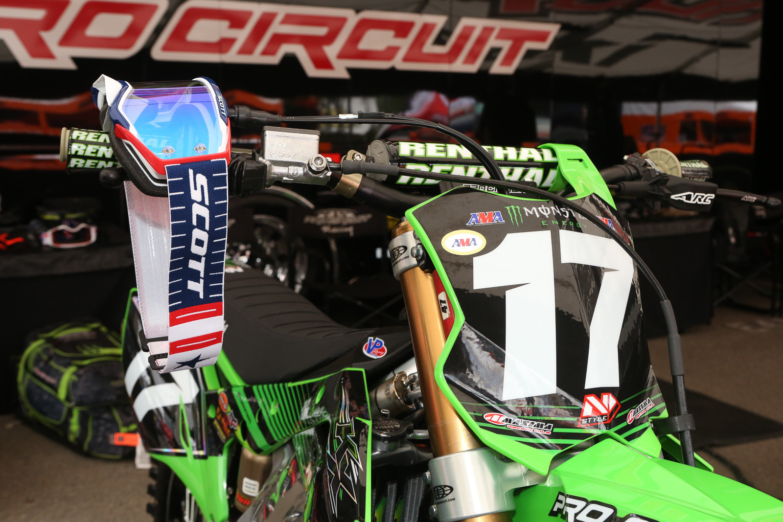 Scott did some really cool red/white/blue goggles for this weekend.