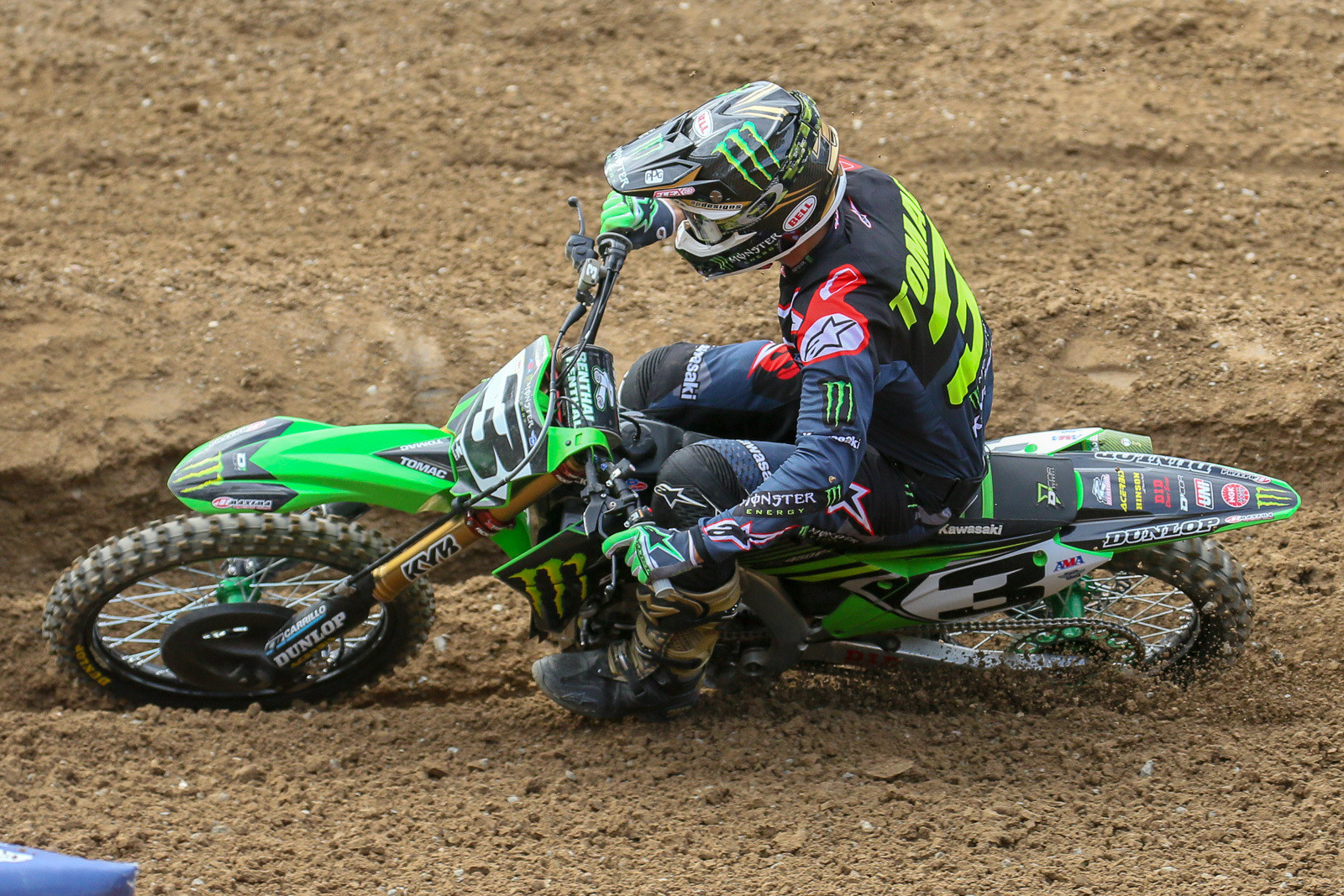 Eli Tomac's shoulder is getting closer to healed up, and he had the pack covered in 450 qualifying.
