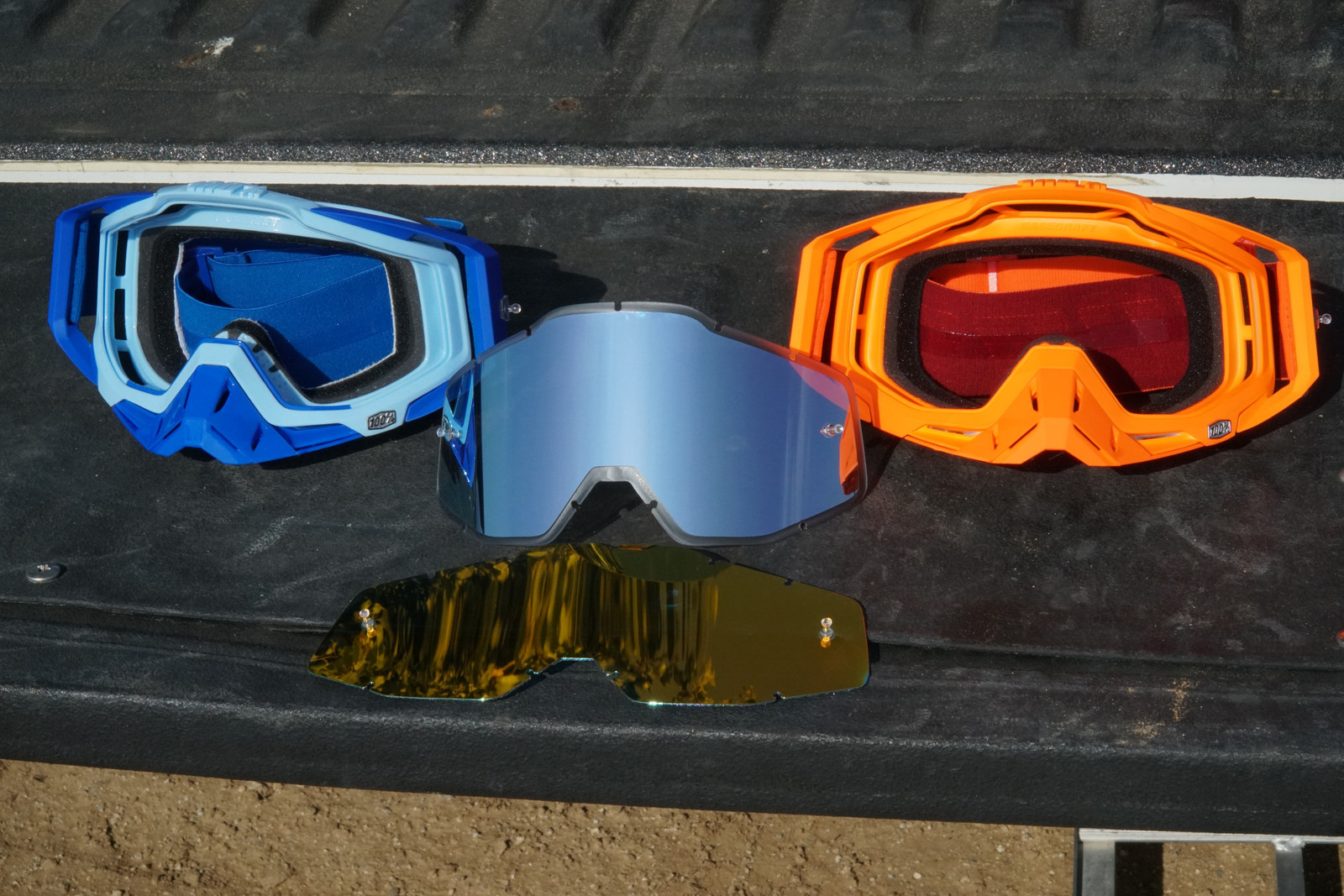 The frames are identical between the Racecraft Plus (blue) and Racecraft (orange) and the lenses are interchangeable.