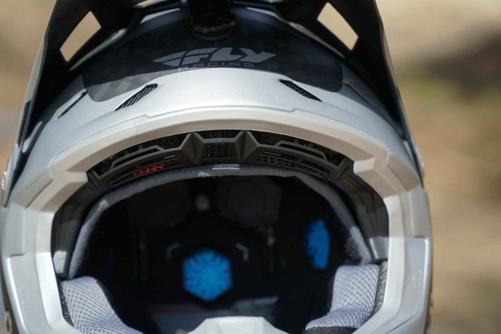 Fly put more EPS in the forehead area, around the crown, and at the back of the helmet.